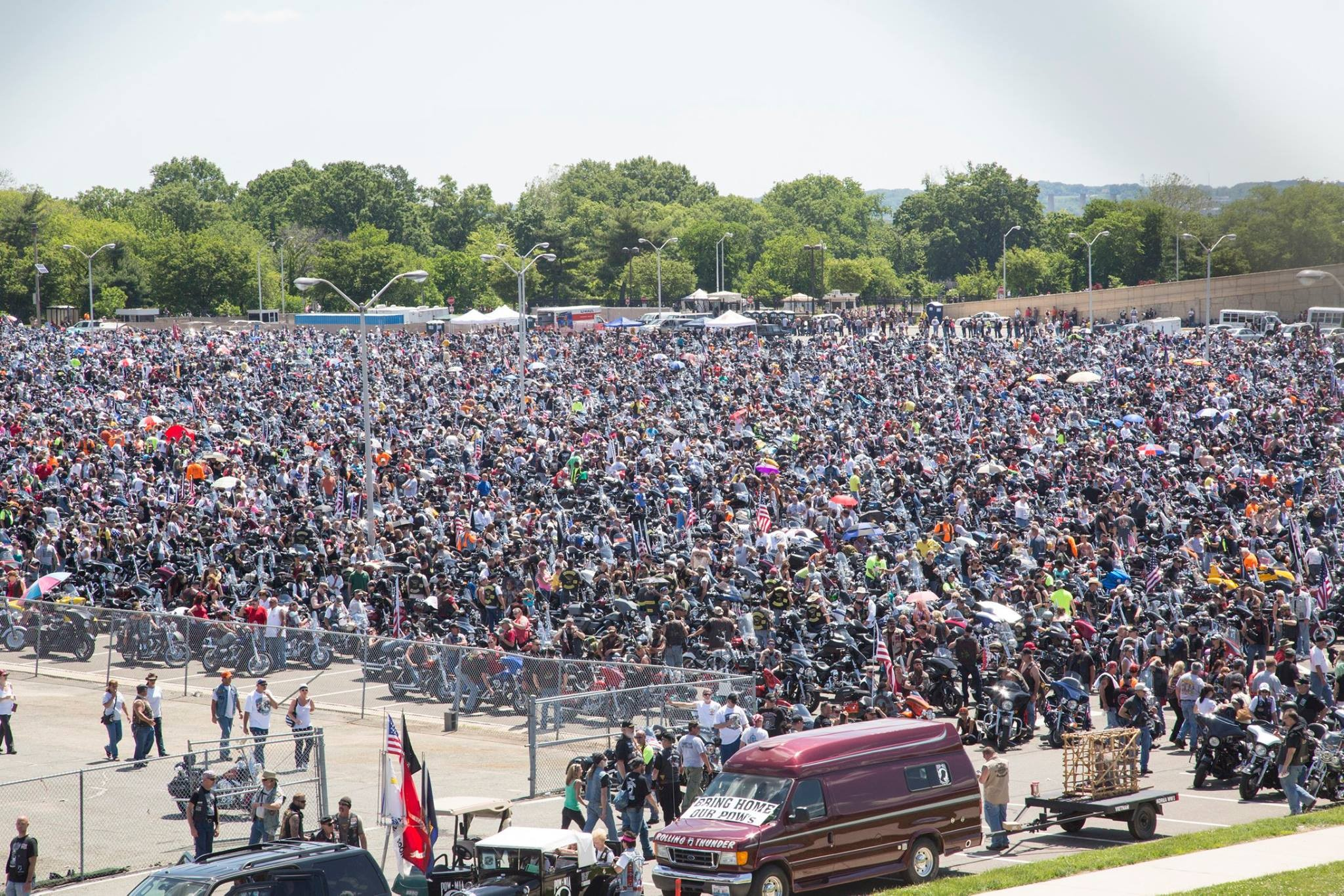 The Rolling Thunder Run Riding For Freedom Flbikers